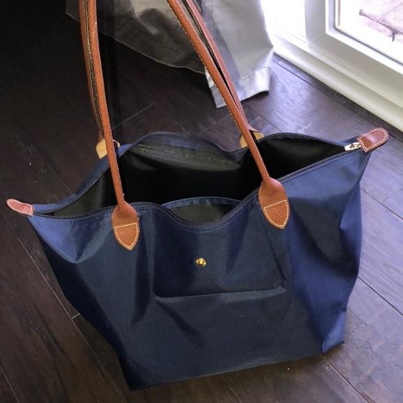 Longchamp Handbags - Longchamp Le Pliage Tote Large Navy color 3ac332ff39